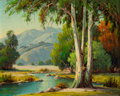 Fine Art - Painting, American:Modern  (1900 1949)  , PAUL GRIMM (American, 1891-1974). Restful Retreat, 1951. Oilon artists' board. 18 x 20 inches (45.7 x 50.8 cm). Signed ...
