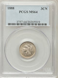 Three Cent Nickels: , 1888 3CN MS64 PCGS. PCGS Population (51/156). NGC Census: (58/108).Mintage: 36,500. Numismedia Wsl. Price for problem free...