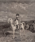 Prints, After JEAN LOUIS ERNEST MEISSONIER (French, 1815-1891). Napoleon on Horseback. Etching. 22 x 16-1/2 inches (55.9 x 41.9 ...