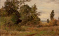 Fine Art - Painting, American:Modern  (1900 1949)  , ALBERT BABB INSLEY (American, 1842-1937). Rural SummerLandscape. Oil on canvas. 12 x 19 inches (30.5 x 48.3 cm).Signed...