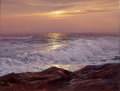 Fine Art - Painting, American:Contemporary   (1950 to present)  , LEONARD C. LANE (American, 1910-1978). Evening Waves. Oil oncanvas. 26 x 20 inches (66.0 x 50.8 cm). Signed lower left:...