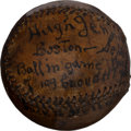 Autographs:Baseballs, 1909 Hughie Jennings Single Signed Game Used Baseball....