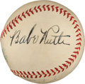 Autographs:Baseballs, 1947 Babe Ruth Single Signed Baseball....