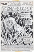 Original Comic Art:Splash Pages, John Buscema and Rudy Messina Tarzan #12 Splash Page 1Original Art (Marvel, 1978)....