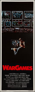 """Movie Posters:Science Fiction, WarGames (MGM/UA, 1983). Insert (14"""" X 36""""). Science Fiction.. ..."""