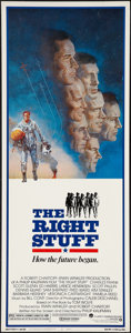 "Movie Posters:Adventure, The Right Stuff (Warner Brothers, 1983). Insert (14"" X 36"").Adventure.. ..."