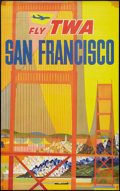"Movie Posters, TWA Airlines San Francisco Poster (1960s). Travel Poster (25"" X40"").. ..."
