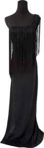 Music Memorabilia:Costumes, Elvis Presley Related - Linda Thompson's Black Evening Gown(1970s)....