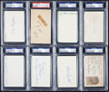 Baseball Collectibles:Others, New York Yankees Greats Signed Index Cards Lot of 8....