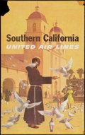 "Movie Posters, United Airlines Southern California (1950s). Travel Poster (25"" X 40"").. ..."