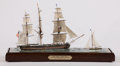 Maritime:Decorative Art, 'PILOT CUMMIN' ABOARD, CAP'N' SHIP MODEL DIORAMA. American Marineand Ship Model Gallery, Salem MA. After depicting the 'Liv...