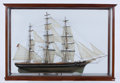 Maritime:Decorative Art, SAILOR'S MODEL OF 'CUTTY SARK'. The famous clipper depicted underfull sail in a vintage sailors model of circa 1900.. Prese...