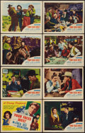 """Movie Posters:Western, Four Faces West (United Artists, 1948). Lobby Card Set of 8 (11"""" X 14""""). Western.. ... (Total: 8 Items)"""