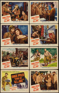 "Movie Posters:War, The Story of G.I. Joe (United Artists, 1945). Lobby Card Set of 8 (11"" X 14""). War.. ... (Total: 8 Items)"