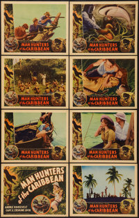 "Man Hunters of the Caribbean (Inter Continent, 1938). Lobby Card Set of 8 (11"" X 14""). Documentary. ... (Total..."
