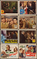 "Movie Posters:Sports, The Iron Major & Others Lot (RKO, 1943). Title Lobby Cards (2) (11"" X 14""), Lobby Cards (6) (11"" X 14""), Portrait Photos (3)... (Total: 13 Items)"