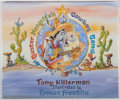 Books:Children's Books, Ernest Franklin [illustrator]. Tony Hillerman. SIGNED WITH ORIGINALDRAWING. Buster Mesquite's Cowboy Band. Buffalo ...