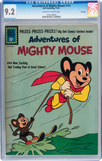 Adventures of Mighty Mouse #151 File Copy (Dell, 1961) CGC NM- 9.2 Off-white to white pages