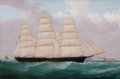 Maritime:Paintings, ARTIST UNKNOWN (American, 20th Century). Ship 'Union'. Oilon canvas. 22 x 33 inches (55.9 x 83.8 cm). THE MBNA COLLEC...