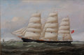 Maritime:Paintings, WILLIAM HOWARD YORKE (British American, 1847-1921).'Lanarkshire', 1887. Oil on canvas. 20 x 30 inches (50.8 x76.2 cm)...
