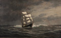 Maritime:Paintings, WILLIAM EDWARD NORTON (American, 1843-1916). Ship in FullSail, 1875. Oil on canvas. 26 x 42 inches (66.0 x 106.7 cm).S...