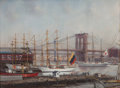 Maritime:Paintings, PETER LAYNE ARGUIMBAU (American, b. 1951). South Street SeaportTall Ships. Oil on canvas. 24 x 32 inches (61.0 x 81.3 c...