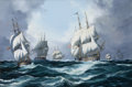 Maritime:Paintings, JOHN BENTHAM DINSDALE (British, 1927-2008). Independence Day,1815. Oil on canvas. 24 x 36 inches (61.0 x 91.4 cm). Sign...