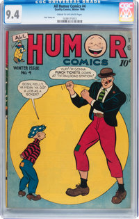 All Humor Comics #4 (Quality, 1946) CGC NM 9.4 Cream to off-white pages