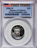 Modern Bullion Coins, 2006-W $25 Quarter-Ounce Platinum Eagle First Strike PR69 DeepCameo PCGS. PCGS Population (140/19). (...