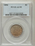 Liberty Nickels: , 1896 5C AU55 PCGS. PCGS Population (11/348). NGC Census: (2/270).Mintage: 8,842,920. Numismedia Wsl. Price for problem fre...
