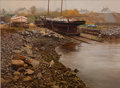 Maritime:Paintings, WILLIAM HOYT (American, 20th century). North End Shipyard,Rockland, 1996. Oil on canvas. 24 x 32 inches (61.0 x 81.3cm...