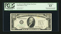Error Notes:Obstruction Errors, Fr. 2011-A* $10 1950A Federal Reserve Note. PCGS Choice New 63.....