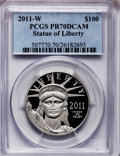 Modern Bullion Coins, 2011-W $100 One-Ounce Platinum Eagle PR70 Deep Cameo PCGS. PCGSPopulation (152). NGC Census: (0). Numismedia Wsl. Price f...