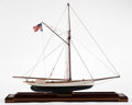 Maritime:Decorative Art, SCALE MODEL OF THE AMERICA'S CUP RACING SLOOP 'PURITAN'. The 90'racing sloop 'Puritan' enjoyed great notoriety as New York ...