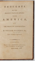 Books:Americana & American History, William Pulteney. Thoughts on the Present State of Affairs withAmerica. Dodsley and Cadell, 1778. Fourth edition. B...