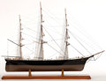 Maritime:Decorative Art, SHIP MODEL OF CLIPPER 'FLYING CLOUD'. Flying Cloud set the world'ssailing record for fastest passage between New York and S...