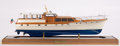 Maritime:Decorative Art, SCALE MODEL OF THE TRUMPY YACHT 'AFFINITY' . American Marine andShip Model Gallery, Salem MA. The classic motor yacht 'Affi...