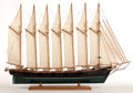 Maritime:Decorative Art, SAILOR'S MODEL OF THE SCHOONER 'THOMAS W. LAWSON' UNDER FULL SAIL.Built in 1902, the tremendous, seven-masted Thomas W. Law...