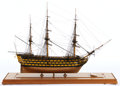 Maritime:Decorative Art, SHIP MODEL OF HMS 'VICTORY' . American Marine and Ship ModelGallery, Salem MA. This historic 104-gun, first-rate ship of th...
