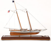 SCALE MODEL OF SCHOONER YACHT 'AMERICA' American Marine and Ship Model Gallery, Salem MA The historic two-mast