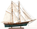 Maritime:Decorative Art, SHIP MODEL OF 'NEWSBOY' . A popular inspiration for many modelbuilders, the 'Newsboy' was a merchant clipper-bowed briganti...