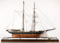 Maritime:Decorative Art, SCALE SHIP MODEL OF WHALING BRIGANTINE 'VIOLA' . American Marineand Ship Model Gallery, Salem MA. A fine representation of ...