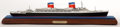 Maritime:Decorative Art, SEALINE MODEL OF SS 'UNITED STATES'. American Marine and Ship ModelGallery, Salem MA. The SS 'United States is a luxury pas...