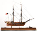 Maritime:Decorative Art, SCALE SHIP MODEL OF THE US NAVY BRIG 'SYREN' . American Marine andShip Model Gallery, Salem MA. The 'Syren' was a brig of t...