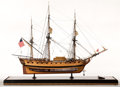 Paintings, IMPOSING SHIP MODEL OF THE HISTORIC FRIGATE 'VIRGINIA'. American Marine and Ship Model Gallery, Salem MA. 'Virginia' was lau...