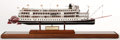 Maritime:Decorative Art, MODEL OF THE STEAMBOAT 'DELTA QUEEN'. The Delta Queen is anAmerican sternwheeler steamboat and is categorized as a U.S. Nat...