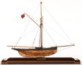 Maritime:Decorative Art, SCALE MODEL OF THE AMERICA'S CUP CONTENDER 'GENESTA' . AmericanMarine and Ship Model Gallery, Salem MA. 'Genesta' was the u...