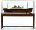 Maritime:Decorative Art, VINTAGE LIVE STEAM TOY MODEL OF THE FREIGHTER 'VENUS'. The Germanbuilt freighter 'Venus', circa 1920. Original finishes int...