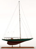 Maritime:Decorative Art, MODEL OF AMERICA'S CUP YACHT 'SHAMROCK I'. Commissioned by SirThomas Lipton, Shamrock was built in 1930 to compete in the A...