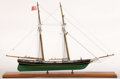 Maritime:Decorative Art, SHIP MODEL OF THE USRC 'JEFFERSON DAVIS' . The Jefferson Davis wasa topsail schooner of the Cushing class built in 1853 and...